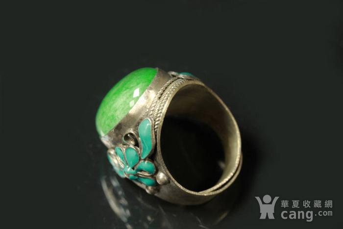 极品 民国正绿翡翠戒指 包老包A货图11