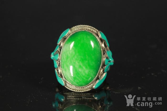 极品 民国正绿翡翠戒指 包老包A货图12