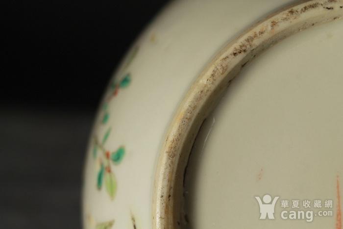 清代粉彩福寿富贵纹盖缸图11