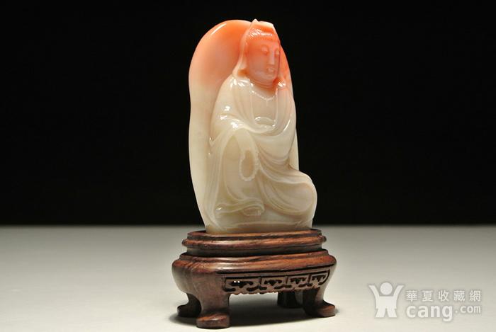 新贵老挝石巧雕 自在观音 人物摆件图2