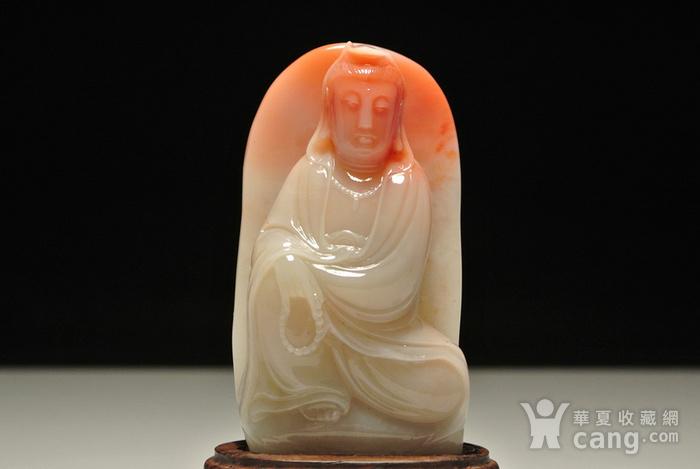 新贵老挝石巧雕 自在观音 人物摆件图6
