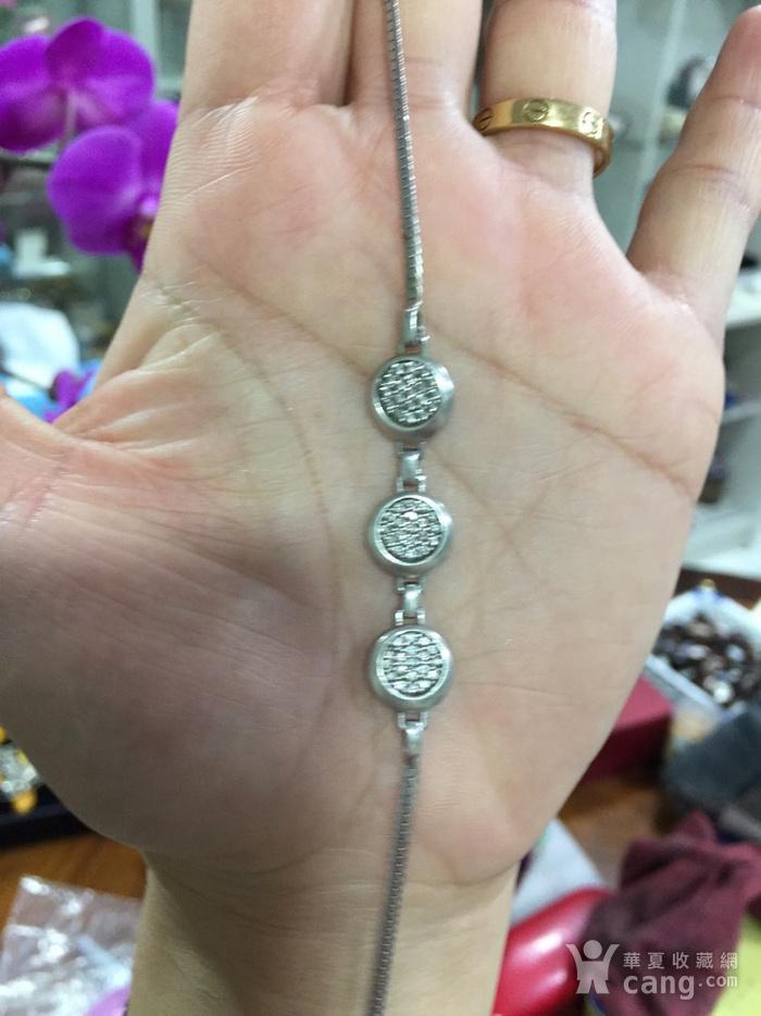8135欧洲回流银嵌水晶手链图1