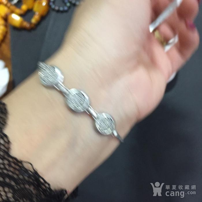 8135欧洲回流银嵌水晶手链图6