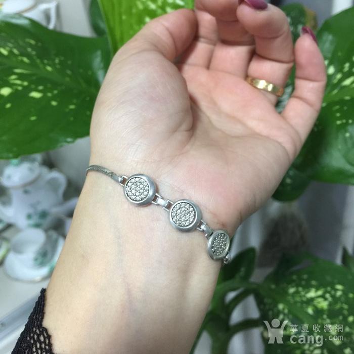 8135欧洲回流银嵌水晶手链图8