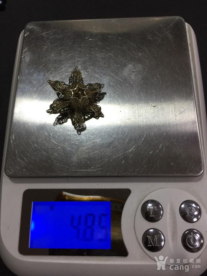 8141欧洲回流花丝银鎏金胸针图8