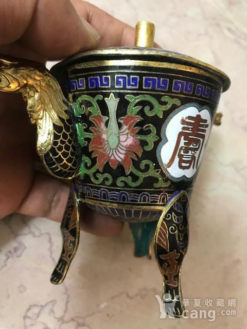 7547 铜鎏金珐琅香薰图9