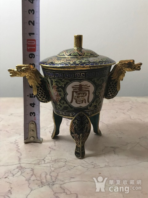 7547 铜鎏金珐琅香薰图12