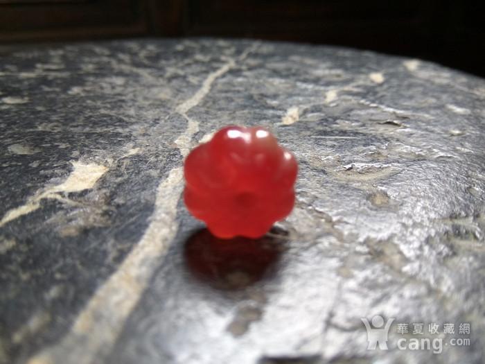 清代 红翡南瓜珠图5