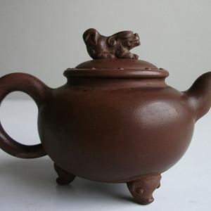 宜兴紫砂茶壶 貔貅壶 范亚琴制 有泡养 老壶一把
