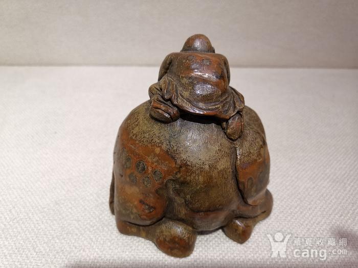 民国.竹雕罗汉洗像图2