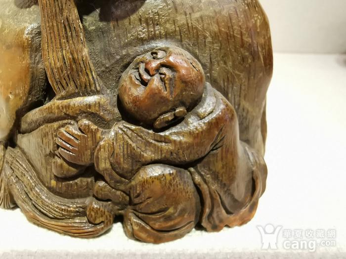 民国.竹雕罗汉洗像图4