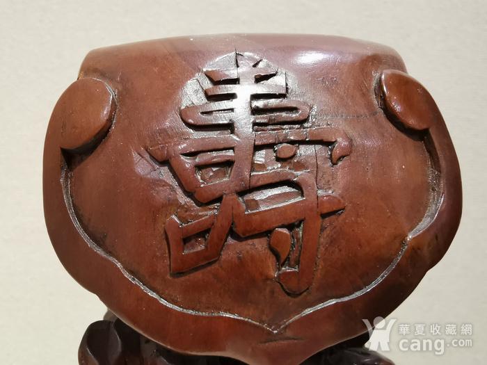 黄杨木福禄寿人物雕像图4