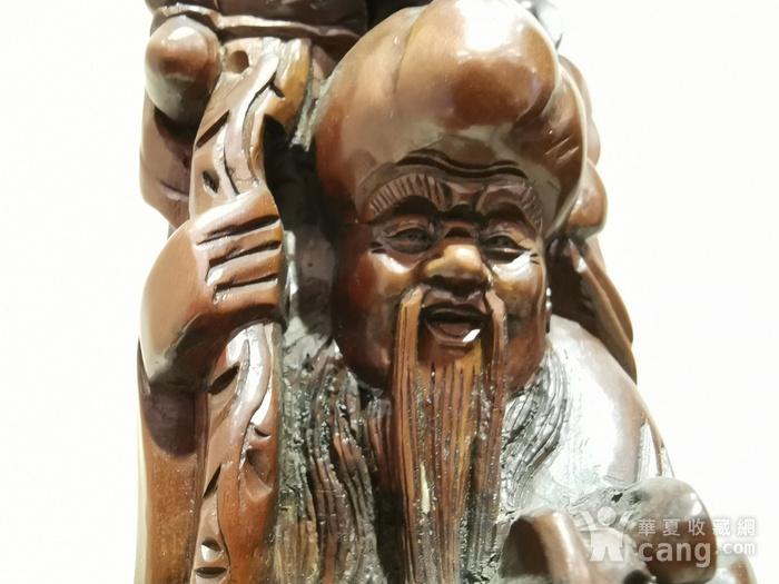 黄杨木福禄寿人物雕像图2