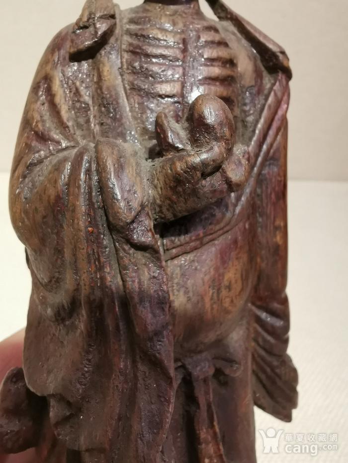 竹雕瘦骨罗汉站像图3