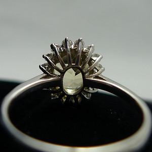 银镶黄水晶 天然锆石精品戒指