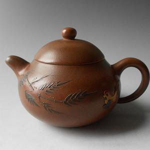 宜兴紫砂茶壶 水平壶 原矿段泥 有泡养