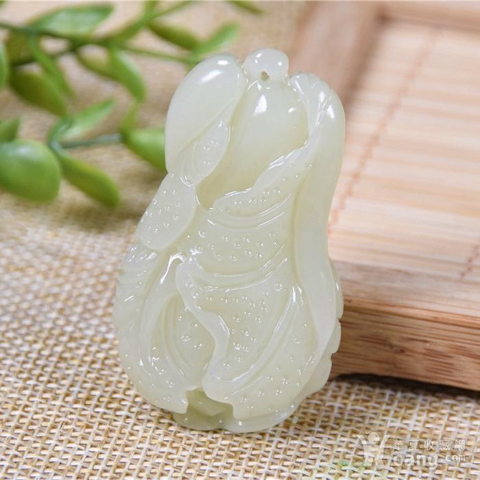 和田玉 黄口料 发财大白菜 细腻图2