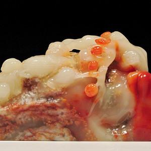 寿山结晶性芙蓉石巧雕 和和美美 摆件
