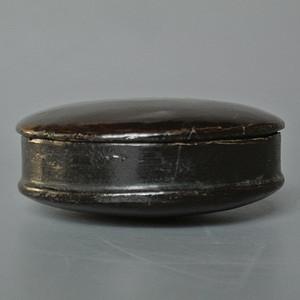 清晚民国老木胎漆器香盒