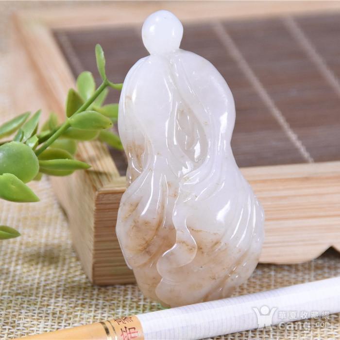 和田玉  糖料 发财大白菜图6