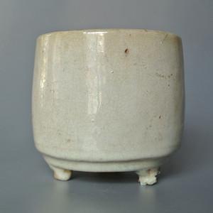 清漳窑白釉筒炉