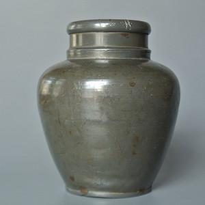 民国美名堂造款老锡茶叶罐