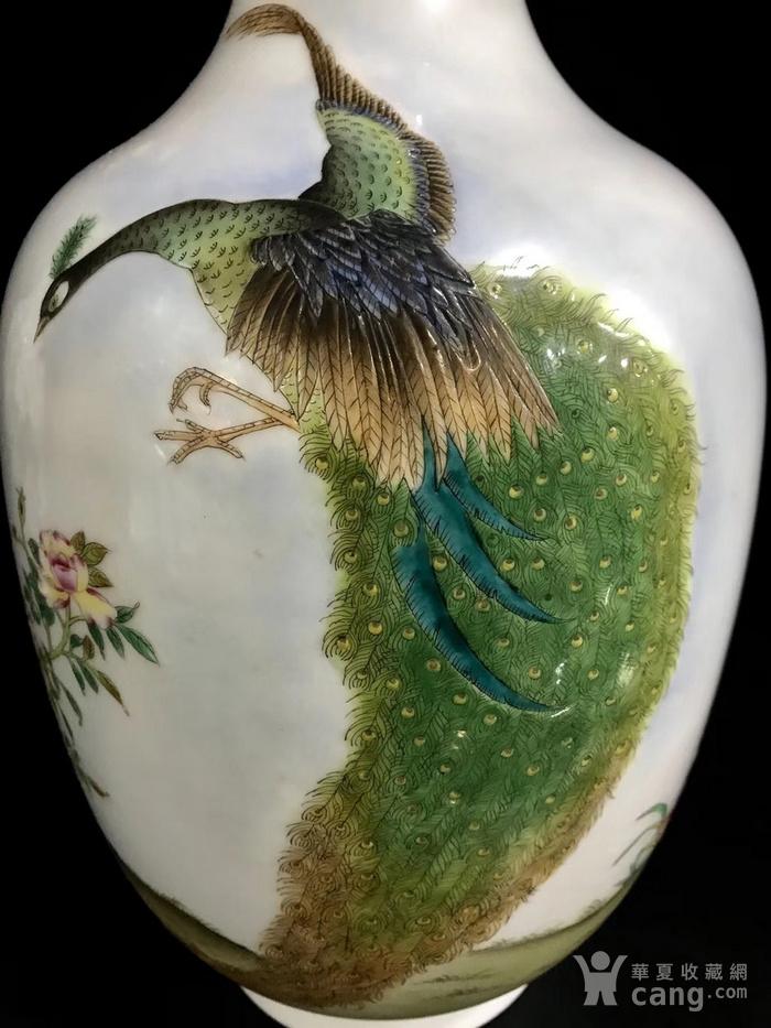 精品本金珐琅彩花鸟纹瓶一对图3