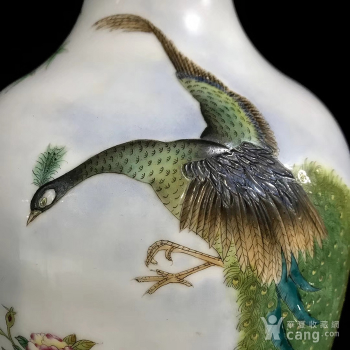 精品本金珐琅彩花鸟纹瓶一对图6