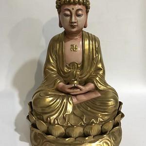 本金浮雕护家佛塑像