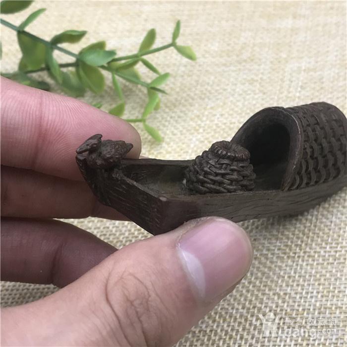 日本回流  铜器  翠鸟小船 香插图2