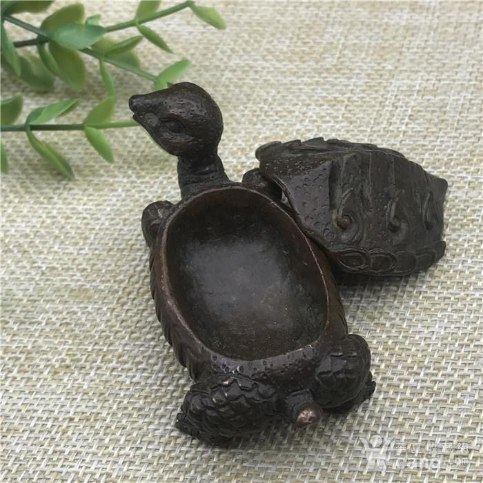 日本回流 铜器  神龟 玄武香炉图5