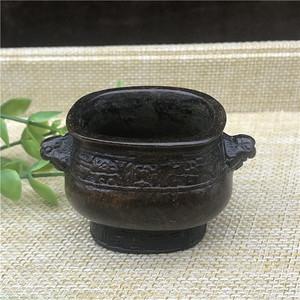 日本回流 铜器 饕餮纹 小鼎