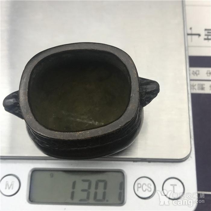 日本回流 铜器 饕餮纹 小鼎图11