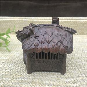日本回流 铜器  草屋 香炉