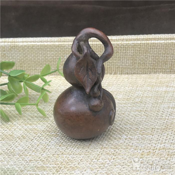 日本回流 铜器  葫芦 福禄双全图1