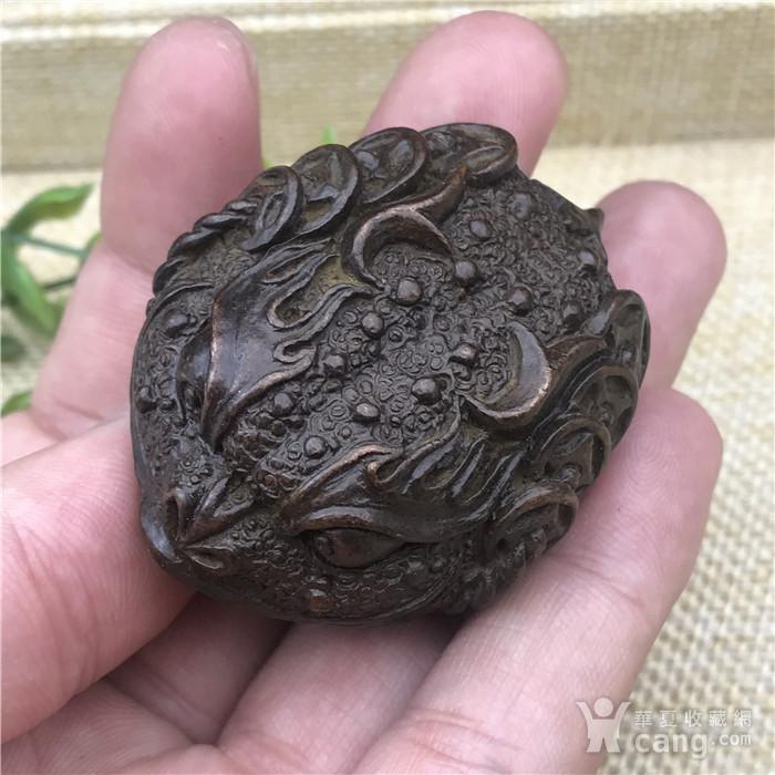日本回流  铜器  响铃 金蟾图3