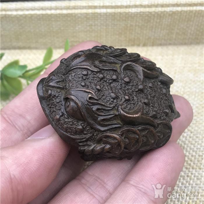 日本回流  铜器  响铃 金蟾图1