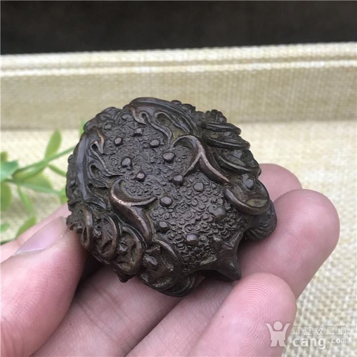 日本回流  铜器  响铃 金蟾图5
