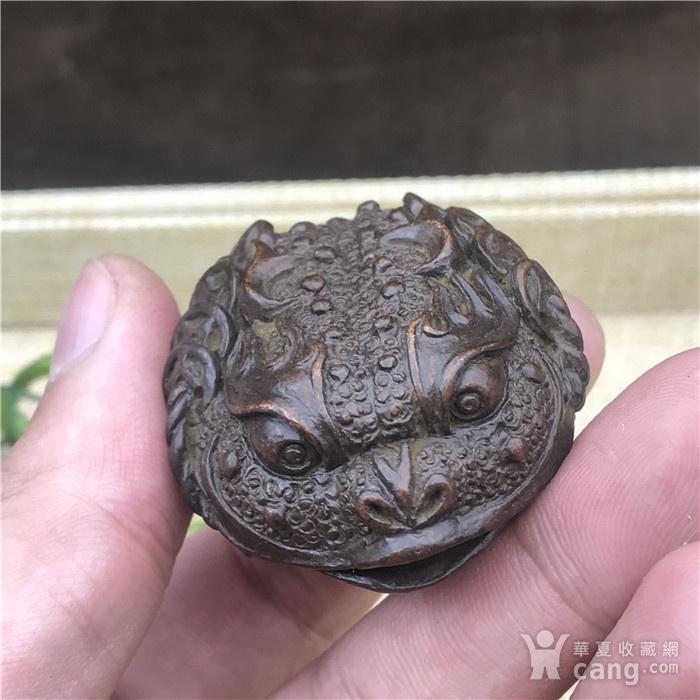 日本回流  铜器  响铃 金蟾图9