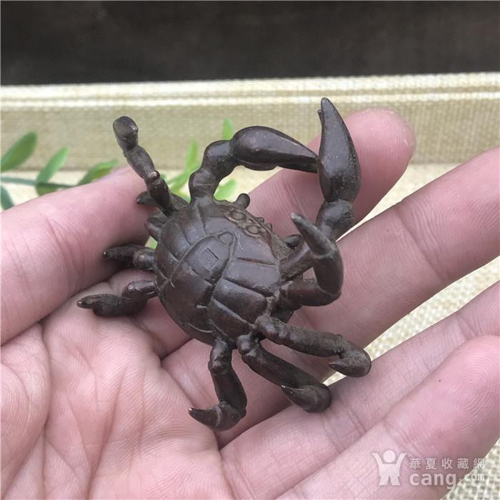 日本回流 铜器 螃蟹图5