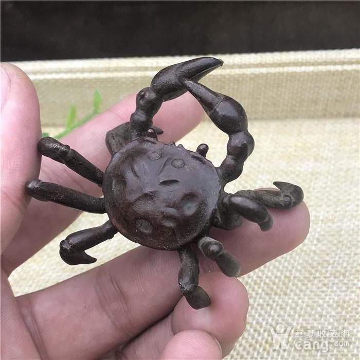 日本回流 铜器 螃蟹图3