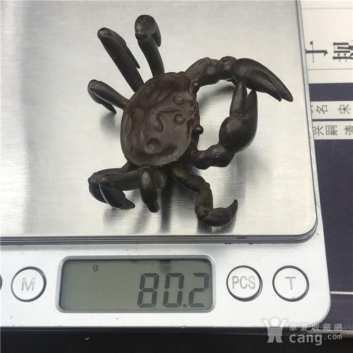 日本回流 铜器 螃蟹图8