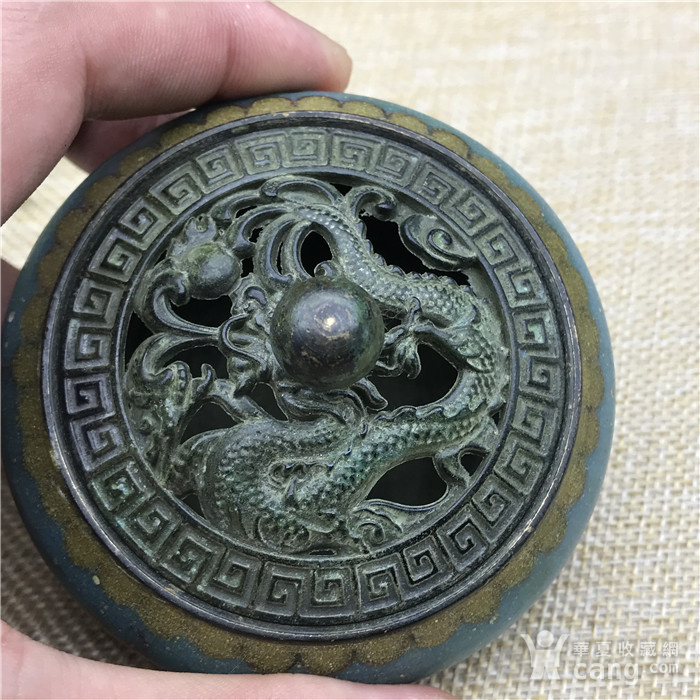 日本回流  景泰蓝 香炉图2
