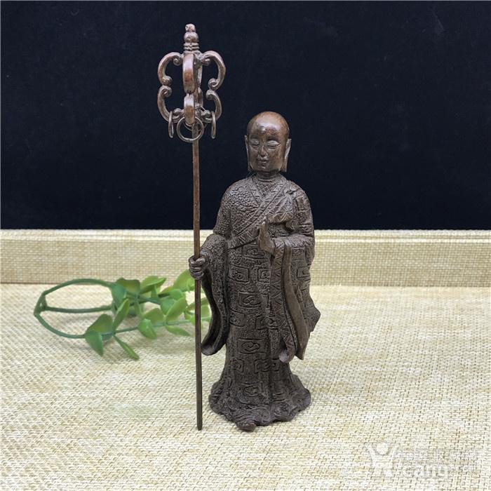 日本回流 铜器 地藏王 菩萨图1