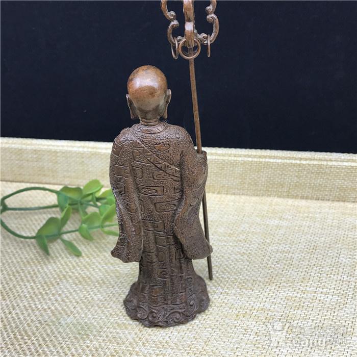 日本回流 铜器 地藏王 菩萨图6