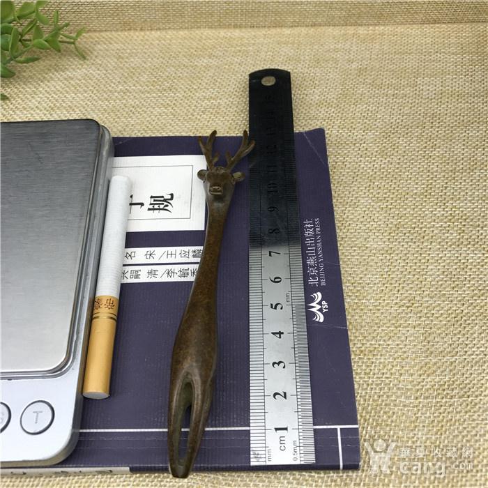 日本回流  铜器 小鹿 壶持图8