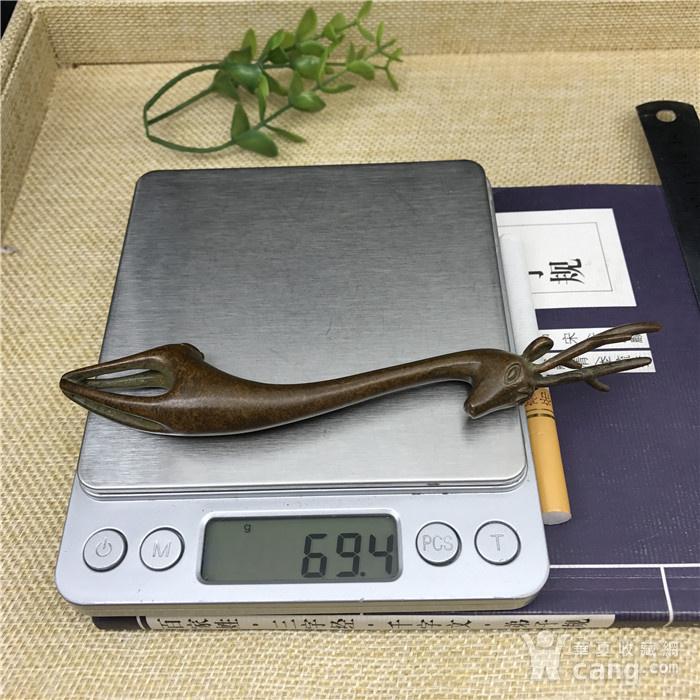 日本回流  铜器 小鹿 壶持图9