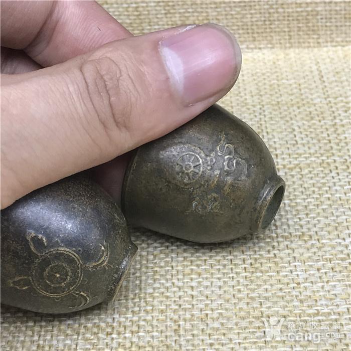 日本回流 铜器  佛教小杯 一对图6
