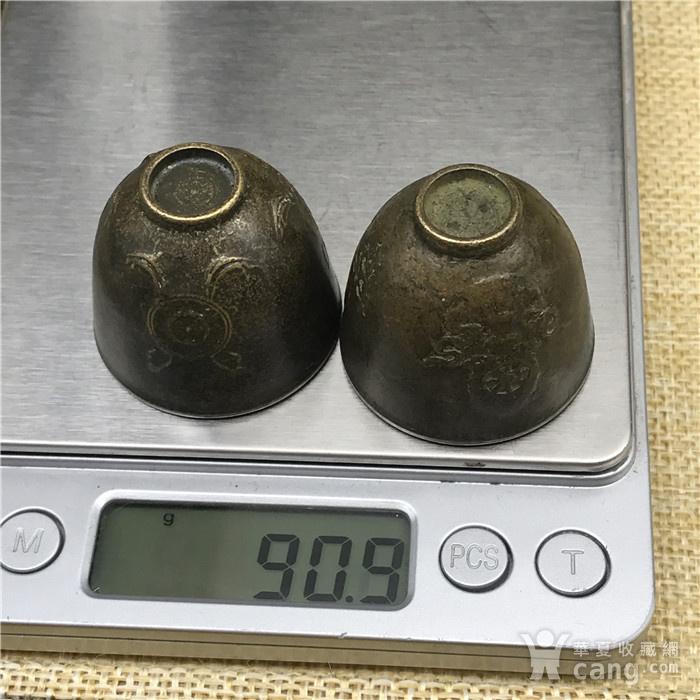 日本回流 铜器  佛教小杯 一对图9