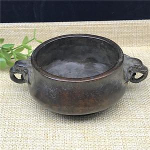 日本回流  铜器  象头鼎